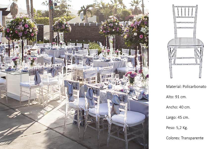 Silla Tiffany Transparente Clarity Mexico copy